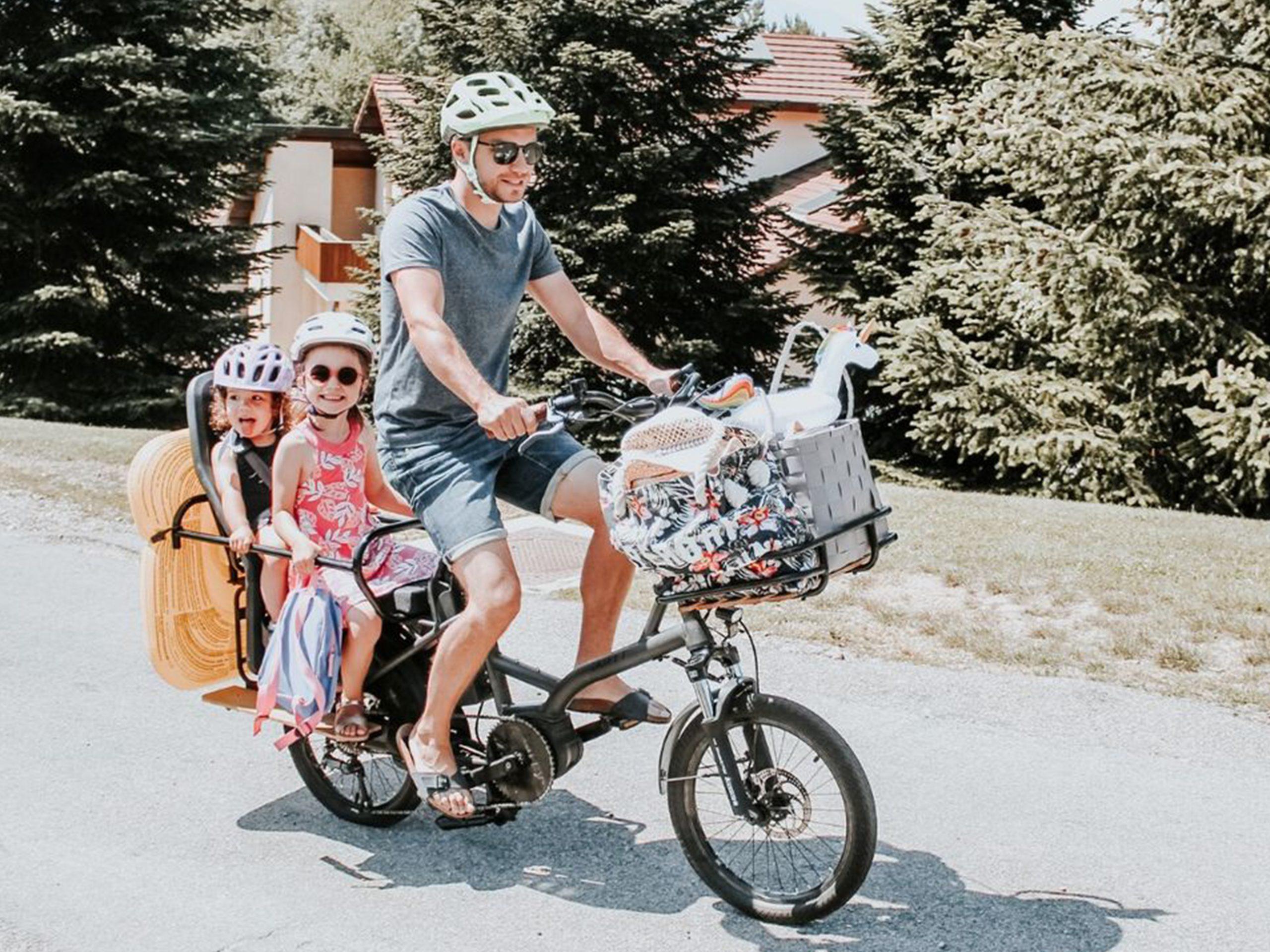 fonctionnel kiffy capsule cargo vélo famille transport enfants