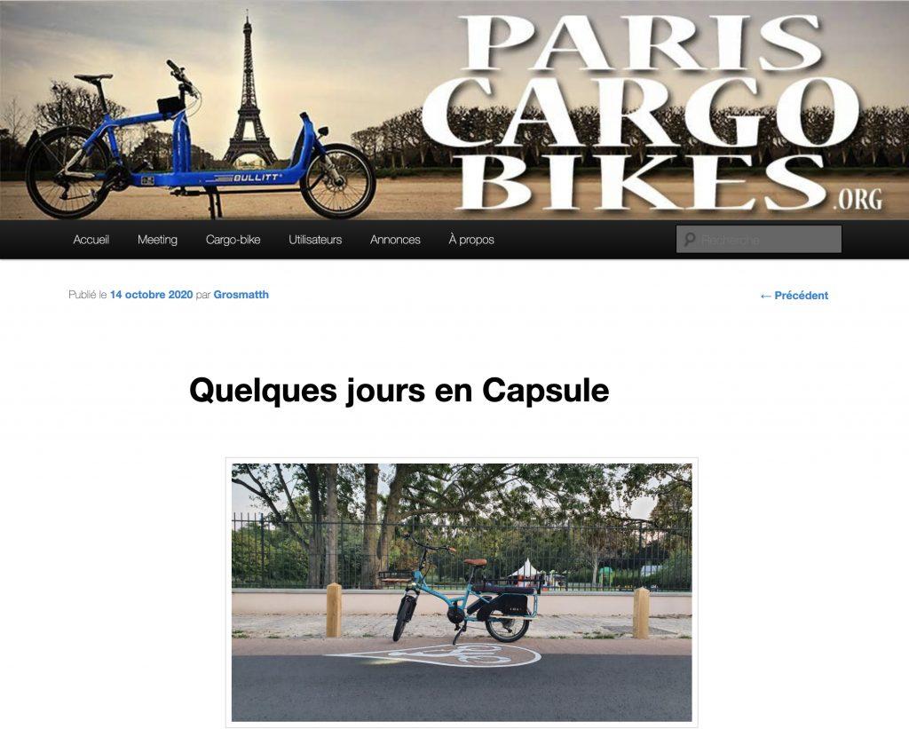On parle de nous 1 Paris Cargo bike